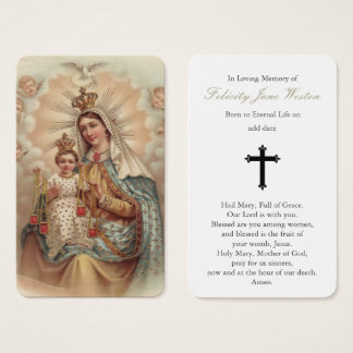 Prayer Card Funeral | Mary Don't Weep