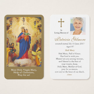 Prayer Card Funeral | Mary Help of Christians