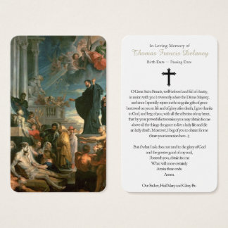 Prayer Card Funeral | Miracles St Francis Xavier