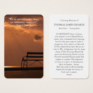 Prayer Card Funeral | Moments
