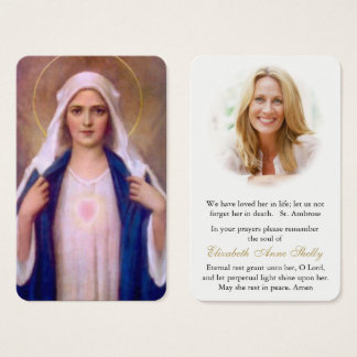 Prayer Card Funeral | Mother Mary 1