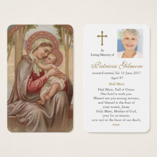 Prayer Card Funeral | Mother Most Admirable