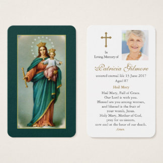 Prayer Card Funeral | Our Lady Help ofChristians 1