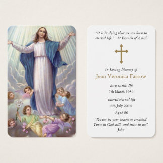 Prayer Card Funeral | Our Lady Holy Rosary