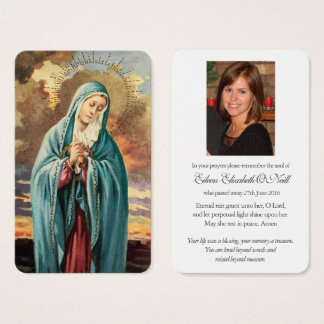 Prayer Card Funeral | Our Lady Mother Mary