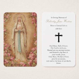 Prayer Card Funeral | Our Lady of Lourdes