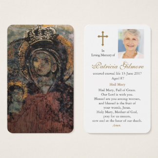 Prayer Card Funeral | Our Lady of Mellieha
