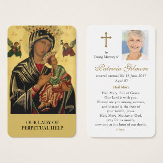 Prayer Card Funeral | Our Lady Perpetual Help