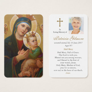 Prayer Card Funeral | Our Lady Perpetual Help 1
