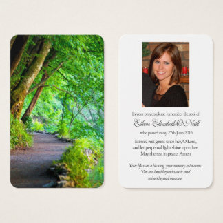 Prayer Card Funeral | Path Through The Forest