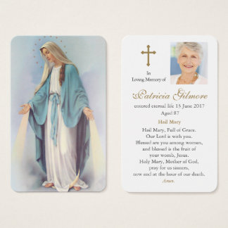Prayer Card Funeral | Radiant Mary