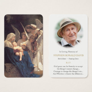 Prayer Card Funeral | Song of Angels