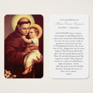 Prayer Card Funeral | St Anthony 4