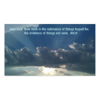 Prayer card Heb 11:1