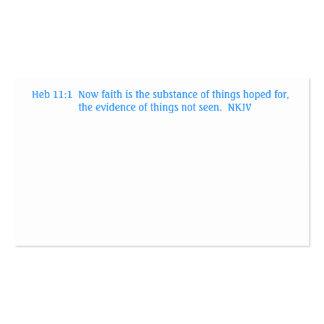 Prayer card Heb 11:1 Blank