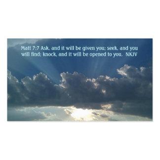 Prayer card Matt 7:7