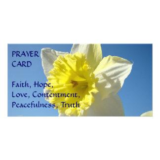 PRAYER CARD Spring Yellow Daffodil Flower