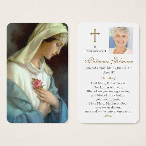 Prayer Cards  Ave Maria