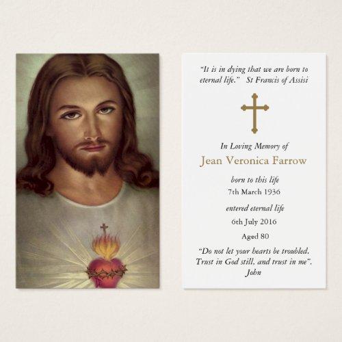 Prayer Cards  Devotion Sacred Heart Jesus