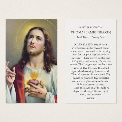 Prayer Cards  Sacred Heart of Jesus