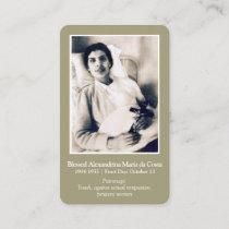 Prayer Cards Saints | Blessed Alexandrina