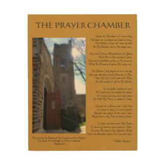 PRAYER CHAMBER POEM WOOD PRINT