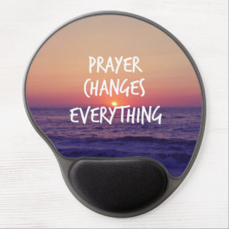Prayer Changes Everything Christian Quote Gel Mouse Pad
