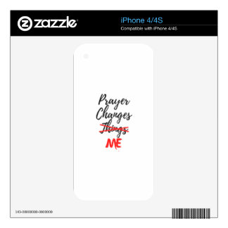 Prayer Changes ME Decals For iPhone 4