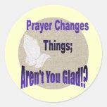 PRAYER CHANGES THINGS CLASSIC ROUND STICKER