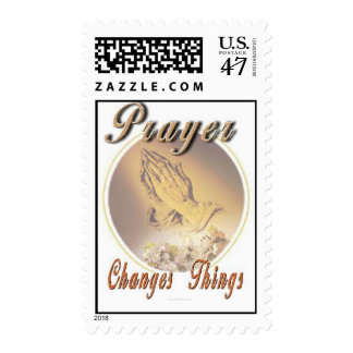 Prayer Changes Things Postage Stamp