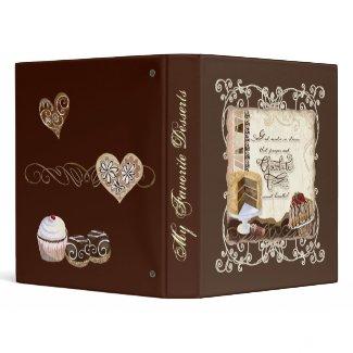 Prayer & Chocolate Woman's Recipe Binder binder