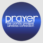 PRAYER CLASSIC ROUND STICKER