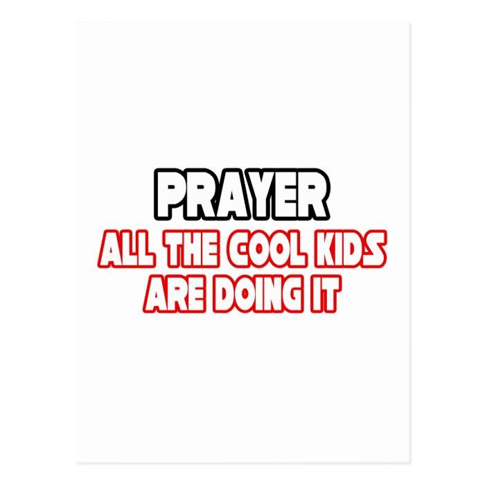 Prayer...Cool Kids Postcard