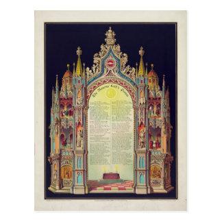Prayer de los albañiles del señor por Huncke 1892 Tarjeta Postal
