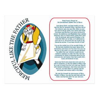 Prayer de papa Francisco para el jubileo Tarjeta Postal