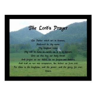 Prayer de señor en el valle de la bifurcación del postal