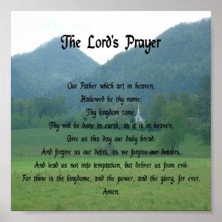 Prayer de señor en las montañas poster