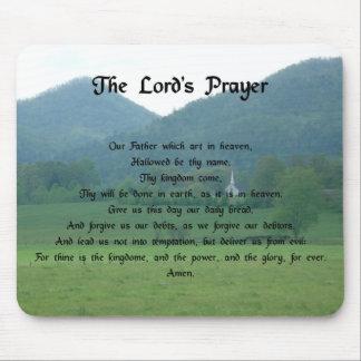 Prayer de señor en las montañas tapete de ratón