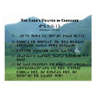 Prayer de señor en postal cherokee