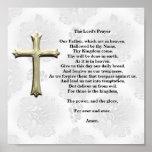 Prayer del señor (blanco) impresiones