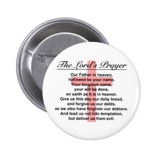 Prayer del señor pin redondo 5 cm