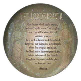 Prayer del señor platos