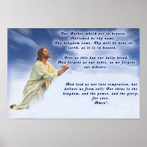 Prayer del señor póster