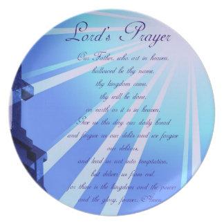 Prayer Design Plate de señor Platos De Comidas