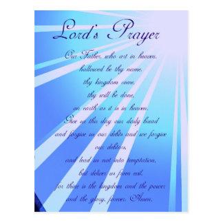 Prayer Design Postcard de señor Postales