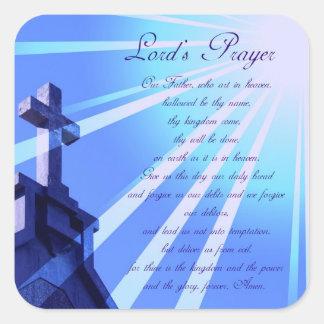 Prayer Design Stickers de señor Pegatina Cuadrada