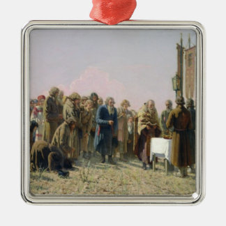 Prayer During the Drought, 1880 Metal Ornament