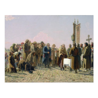 Prayer During the Drought, 1880 Postcard