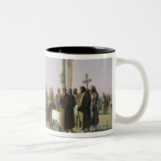 Prayer During the Drought, 1880 Two-Tone Coffee Mug