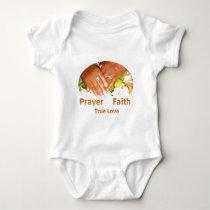 Prayer Faith True Love Baby Bodysuit